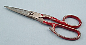 Scissors/ Kitchen Shears - Red Handle