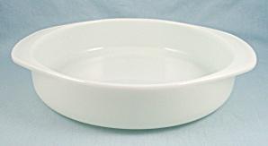 Pyrex 221- White Cake Plate, Tab Handles (Image1)