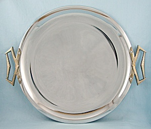 Kromex #570 - Round Serving Tray (Image1)