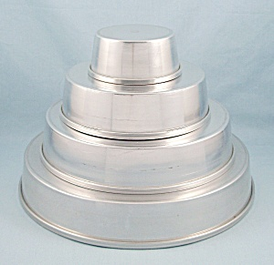 Vintage VITALITY (Mirror) Aluminum - Four Tier Party Cake Set (Image1)