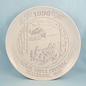 Sugar Maple Festival- Bellbrook, Ohio - Commemorative Plate -1990