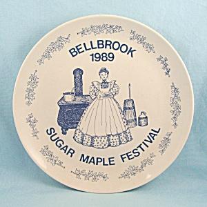 Sugar Maple Festival- Bellbrook, Ohio – Commemorative Plate –1989  (Image1)