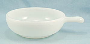 Glasbake J2663 - Lug Handle, White Smooth Soup Bowl