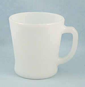 Fire King -  Mug, Solid White, D Handle	 (Image1)