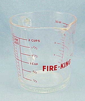 Fire King - Measuring Cup, 1 Pint - Anchor Hocking Glass Co.