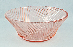Diana Pink 5-inch Bowl, Federal Glass
