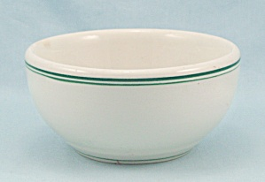 Small Shenango China Bowl - Green Lines