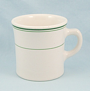 Homer Laughlin - Green Lines, Mug