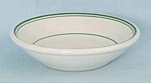 Sterling China - Dessert Bowl, Three Green Trim Lines