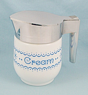 Gemco - Snowflake Blue - Cream Pitcher