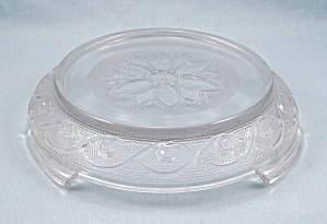 Sandwich Clear - Punch Bowl Base /stand - Anchor Hocking
