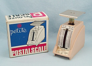1968- Petite/ Pelouze - 1 Pound Adjustable Postal Scale, Original Box