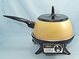 1973 Oster Electric Fondue Set - Harvest Gold