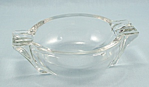Art Deco Clear Ash Tray - Side Wings, Color King By Federal