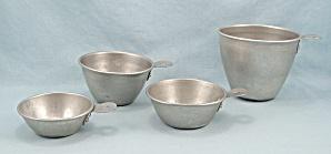 4 - Aluminum Measuring Cups, Nesting, Tab Handles (Image1)