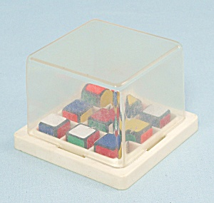 Rubik's Race Game, Ideal, 1982, Replacement Scrambler Box With Cubes