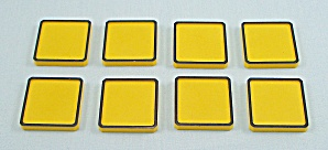 Rubik's Race Game, Ideal, 1982, 8 Replacement Yellow Tiles (Image1)