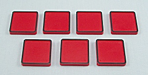 Rubik's Race Game, Ideal, 1982, 7 Replacement Red Tiles (Image1)