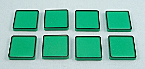 Rubik's Race Game, Ideal, 1982, 8 Replacement Green Tiles (Image1)
