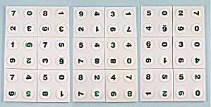 Number Quest Game, Decipher, 1987, 18 Replacement Playing Tiles