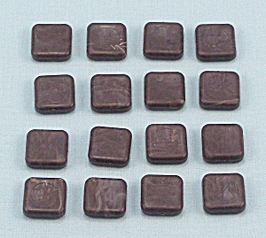 LCD Computerized Backgammon, Tandy, 16 Replacement Dark Playing Pieces (Image1)