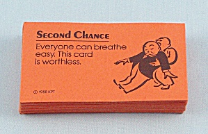 Free Parking Game, Parker Brothers, 1988, 32 Replacement Second Chance Cards (Image1)