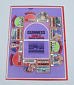 Guinness Game Of World Records, Parker Brothers, 1975, Replacement Game Board
