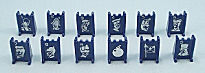 Stratego Game, Milton Bradley, 1977, Replacement Blue Playing Pieces            (Image1)