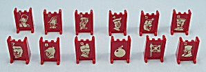 Stratego Game, Milton Bradley, 1977, Replacement Red Playing Pieces              (Image1)