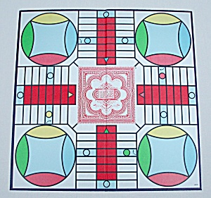 Parcheesi Game, Deluxe Edition, Milton Bradley, 1989, Replacement Game Board