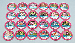 Pokémon Master Trainer Game, Milton Bradley, 1999, 24 Replacement Pink #2 Chips (Image1)