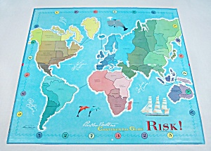 Risk, Wooden Pieces, Game, Parker Brothers, 1968, Replacement Game Board