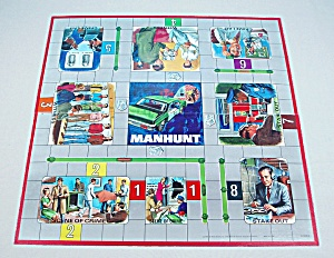 Manhunt Game, Milton Bradley, 1972, Replacement Game Board