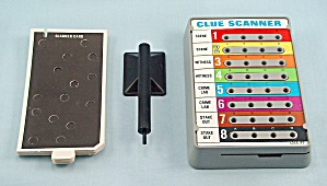 Manhunt Game, Milton Bradley, 1972, Replacement Clue Scanner With Cards