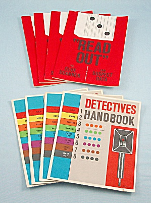 Manhunt Game, Milton Bradley, 1972, Replacement Handbooks And Readout Books