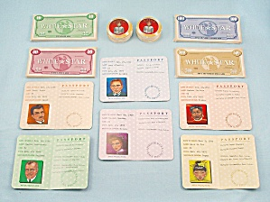 Titanic the Board Game, Universal, 1998, Replacement Passports, Money and Tokens (Image1)