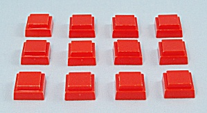 Can't Stop Game, Parker Brothers, 1980, 12 Replacement Orange Squares  (Image1)