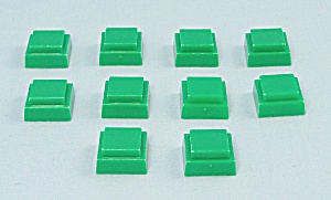 Can't Stop Game, Parker Brothers, 1980, 10 Replacement Green Squares