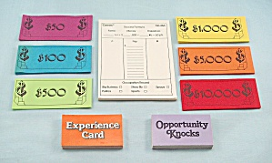 Careers Game, Parker Brothers, 1979, Replacement Scoring Pad, Money and Cards (Image1)