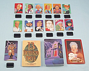 13 Dead End Drive Game, Milton Bradley, 1993, Replacement Pawns, Stands And Cards