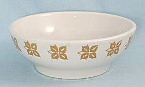Homer Laughlin - Yellow Floral Medallions - Restaurant Ware Bowl