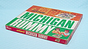 Card Party Michigan Rummy Game, Hasbro, 1969