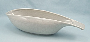 1950's Russel Wright Gravy Dish - American Modern, Light Gray