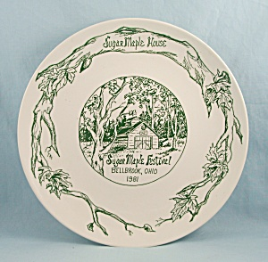 Sugar Maple Festival- Bellbrook, Ohio - Commemorative Plate - 1981