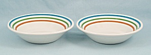 Syracuse China -two Small Bowls, Three Bands