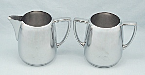 Universal By International Silver Co., Cream & Sugar Set # 8905