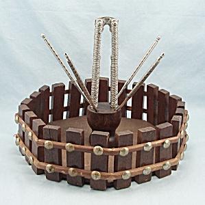 Wooden Nut Bowl / Basket & Cracking Tools (Image1)