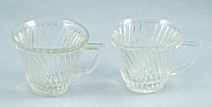 Two Diana Demitasse Clear Cups