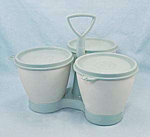 Tupperware Condiment / Relish Caddy - Aqua/Teal (Image1)