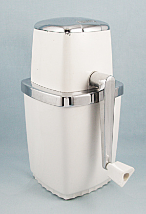 Swing-A-Way Ice Crusher, Vacu-Base, White, Chromed Trim (Image1)